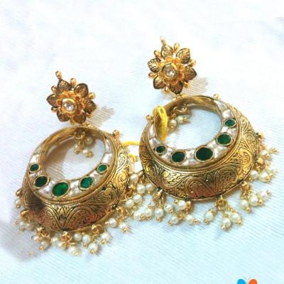 Jadau Earrings